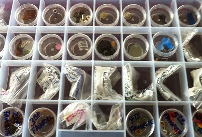 colectie obiecte gasite de ciori