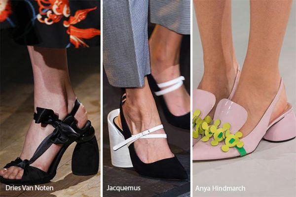 pantofi cu tocuri rotunde