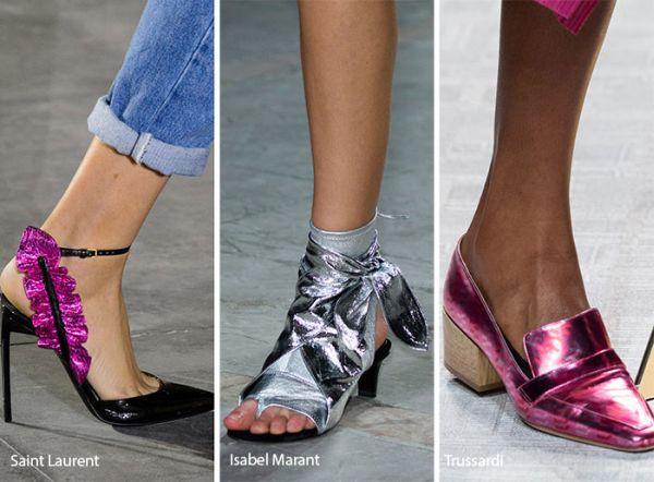 sandale culori metalice