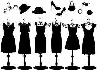 imagine desen cu rochii negre