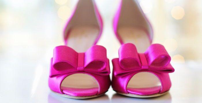 pantofi roz cu funda